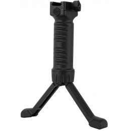 ICS Rapid Deploy Tactical Airsoft Foregrip Bipod System - BLACK