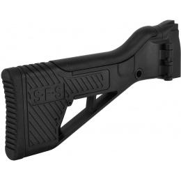 ICS Airsoft G33 AEG Rifle Folding Stock w/ Adjustable Cheek Riser