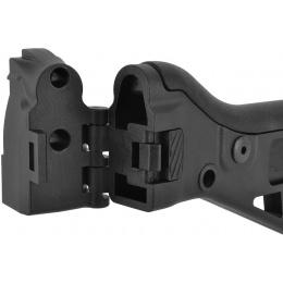 ICS Airsoft G33 AEG Rifle Folding Stock w/ Adjustable Cheek Riser