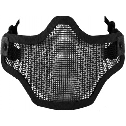 CYMA Airsoft Steel Mesh Adjustable Lower Face Mask - BLACK