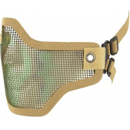 CYMA Airsoft Steel Mesh Adjustable Lower Face Mask - DESERT CAMO
