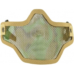CYMA Airsoft Steel Mesh Adjustable Lower Face Mask - DESERT CAMO