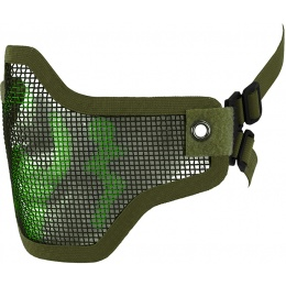 CYMA Airsoft Steel Mesh Adjustable Lower Face Mask - OD GREEN CAMO