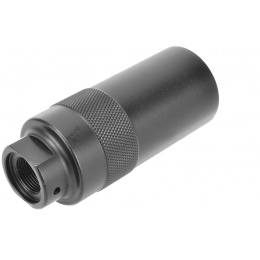 A&K Airsoft Amplifier 14mm CCW Full Metal One-piece - BLACK