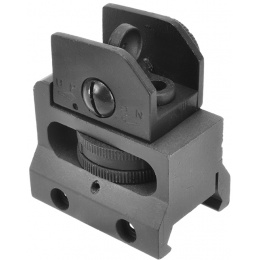 A&K Airsoft Adjustable/Detachable Full Metal Rifle Rear Sight