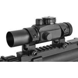 AMA Airsoft 1x30mm 7-Intensity Low Profile Full Metal Red Dot Scope