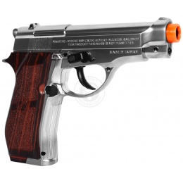 WG M84 Compact Full Metal Airsoft CO2 Non Blowback Pistol - SILVER