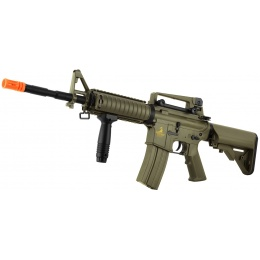 Lancer Tactical Polymer M4 RIS LT-04T Airsoft Gun AEG Rifle - TAN