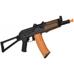 Lancer Tactical AK-74U Metal Gearbox Airsoft AEG Rifle - FAUX WOOD