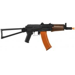 Lancer Tactical AK-74U Metal Gearbox Airsoft AEG Rifle - FAUX WOOD