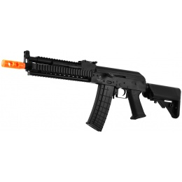 Lancer Tactical AK-47 RIS Metal Gearbox Airsoft AEG Rifle - BLACK