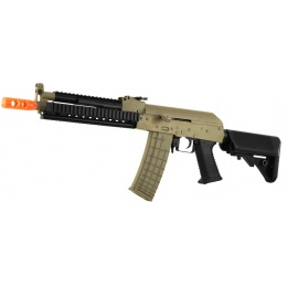 Lancer Tactical AK47 RIS Metal Gearbox Airsoft AEG Rifle - TAN