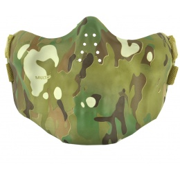 AMA Nylon Lower Half Face Protection Airsoft Mask - CAMO