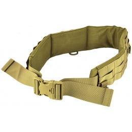 AMA Rugged MOLLE Duty Battle Belt w/ Padded Liner - TAN