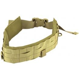 AMA Rugged MOLLE Duty Battle Belt w/ Padded Liner - TAN