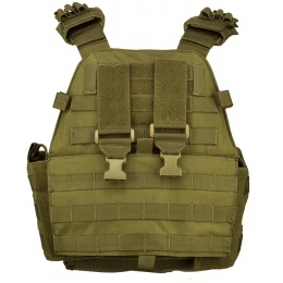 AMA Tactical EG Assault Airsoft MOLLE Plate Carrier - KHAKI