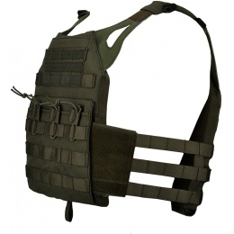 Lancer Tactical JPC Tactical Vest MOLLE w/ Dummy Plates - FOLIAGE