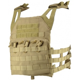 Lancer Tactical Airsoft JPC Plate Carrier w/ MOLLE Webbing - TAN