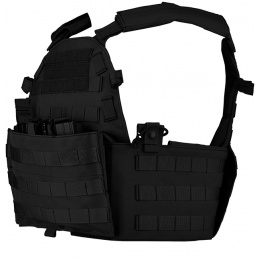 Lancer Tactical 600D Modular Airsoft MOLLE Plate Carrier - BLACK