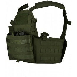 Lancer Tactical 600D Modular Airsoft MOLLE Tactical Vest (OD Green)