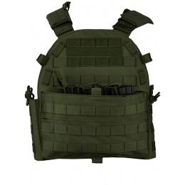 Lancer Tactical 600D Modular Airsoft MOLLE Tactical Vest (OD Green)