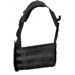 Lancer Tactical 600D Speed Attack MOLLE Plate Carrier V2 - BLACK