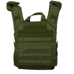 Lancer Tactical 600D Speed Attack MOLLE Plate Carrier V2 - OD GREEN