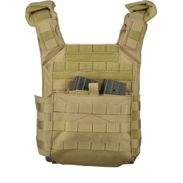 Lancer Tactical 600D Speed Attack MOLLE Plate Carrier V2 - TAN