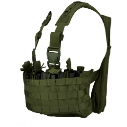 Lancer Tactical DZN Mag Harness Chest Rig w/ Hydration Carrier - OD