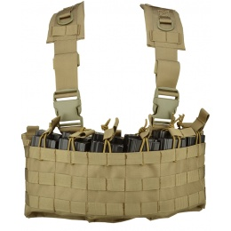 Lancer Tactical DZN Mag Harness Chest Rig w/ Hydration Carrier - TAN