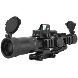 AIM Sports The Reaper 1-4x24mm Tri-Illuminated Scope w/ Red Dot Sight
