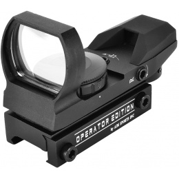 AIM Sports Operator Edition Airsoft 4-Reticle Red/Green Dot Sight