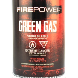 FirePower Airsoft Green Gas 8 Ounce Can for Gas Guns - 12 Pack Box