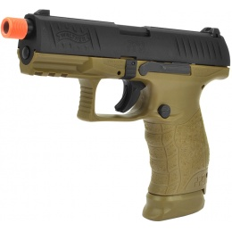 Walther PPQ Gas Blowback Licensed Airsoft Pistol - BLACK / TAN