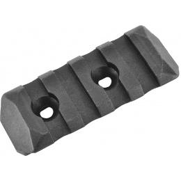 PTS Enhanced 4-Slot Polymer KeyMod Airsoft Rail Section - BLACK