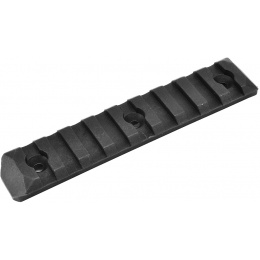 PTS Enhanced 9-Slot Polymer KeyMod Airsoft Rail Section - BLACK
