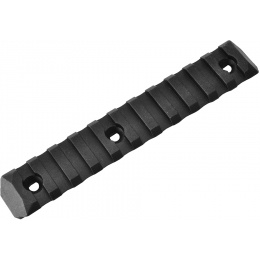 PTS Enhanced 11-Slot Polymer KeyMod Airsoft Rail Section - BLACK
