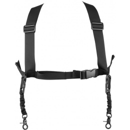 Echo1 Airsoft Tactical Dual Attachment Shoulder Sling System - BLACK