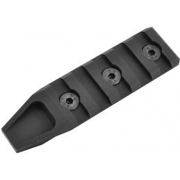 APEX Airsoft Aluminum KeyMod 5-Slot Rail Segment - BLACK