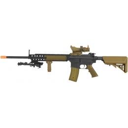 Airsoft Megastore Custom Gun Builder Full Metal M4 RECCE RIS AEG - TAN
