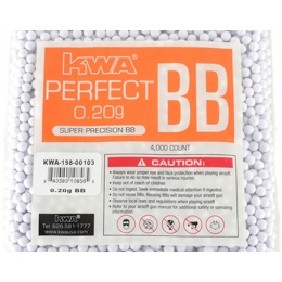 KWA Perfect 0.20g Seamless Precision 6mm Airsoft BBs - 4000rd Bag