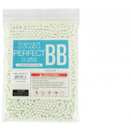 KWA Perfect 0.25g Seamless Precision 6mm Airsoft BBs - 3000rd Bag