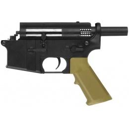 Golden Eagle 350 FPS Polymer CQB Lower Receiver - BLACK/TAN