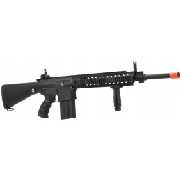 Golden Eagle Airsoft SR-25 Sniper Rifle AEG w/ Mock Suppressor - BLACK