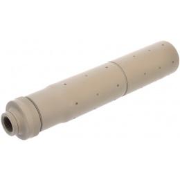Golden Eagle Airsoft 14mm CCW Threaded Aluminum Mock Suppressor- TAN