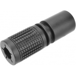 Golden Eagle M4 PDW Airsoft Flash Hider 14mm CCW - BLACK