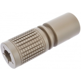 Golden Eagle M4 PDW Airsoft Flash Hider 14mm CCW - TAN