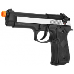 Bell U.S. Army M92 GBB Airsoft Pistol Gas Blowback Gun - TWO TONE