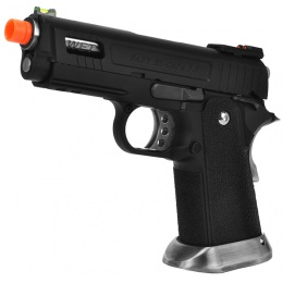 WE Tech Velociraptor Full Metal Gas Blowback Pistol - BLACK