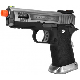 WE Tech Velociraptor Full Metal Gas Blowback Pistol - SILVER